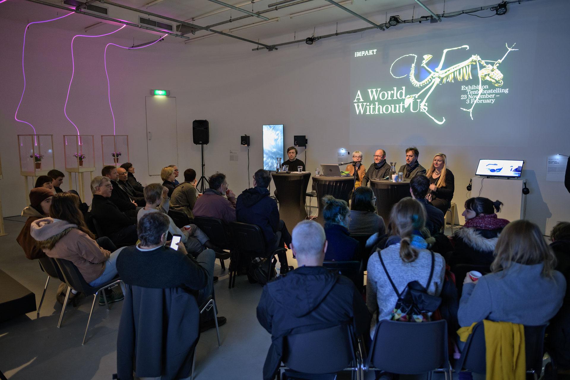 Impakt artist talk tentoonstelling  'a world without us'; www.im